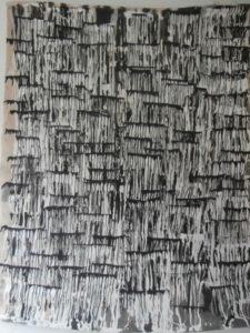 Coulures noires sur blanches